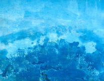 Grungy blue wall Royalty Free Stock Images