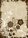 Grungy border background with filigree Royalty Free Stock Image