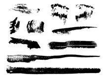 Grungy borsteslaglängder för vattenfärg Arkivbilder