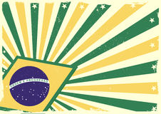 Grungy brazilian flag background Stock Image