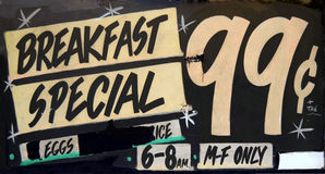 Grungy Breakfast Cafe Royalty Free Stock Photography