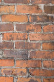 Grungy Brick Background. Brick wall grunge background with orange, rust, and brown colors. Mortar is worn down royalty free stock photography