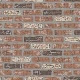 Grungy Brick Pattern. Seamless brick wall pattern with grunge effect Stock Photo