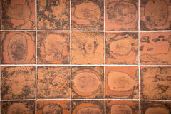 Grungy brick tile pattern Stock Photography