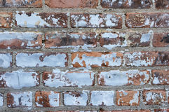 Distressed Brick Wall Background. Close up view of Grungy Brick Wall Background Stock Photos