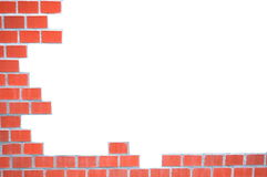 Grungy brick wall frame Stock Image