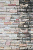 Grungy brick wall pattern of exterior building. Stock Images