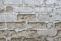 Grungy brick wall with  stucco layer texture. Royalty Free Stock Images