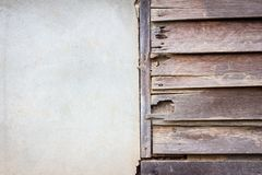 Grungy brown wood plank wall texture background Royalty Free Stock Images