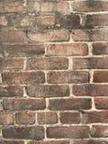 Grungy bruine bakstenen muur dichte omhooggaand met verfplonsen Stock Foto's