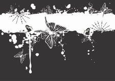 Grungy butterflies Stock Photo
