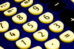 Grungy calculator. Calculator with a high contrast grungy look Royalty Free Stock Images