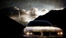 Grungy car Royalty Free Stock Photo