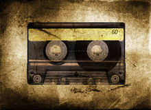 Grungy cassette tape Royalty Free Stock Images
