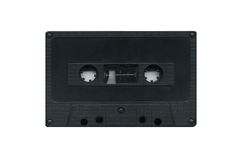 Grungy cassette tape isolated over white Stock Image