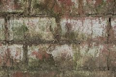 Grungy ceglana tekstura z niektóre białą farbą obrazy royalty free