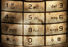Grungy cellular keypad Royalty Free Stock Photos