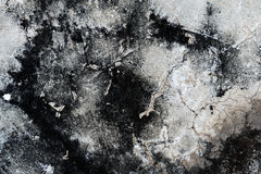Grungy cement cracks wall royalty free stock photography