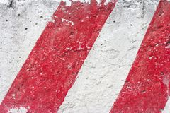 Grungy Cement Wall Background With Red Lines Royalty Free Stock Photos