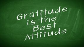 Gratitude is the Best Attitude royalty free stock photos
