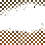 Grungy chessboard. Backrond of chessboard.Grungy chessboard illustration Royalty Free Stock Photos