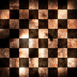 Grungy chessboard Stock Images