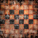Grungy chessboard background Stock Photo