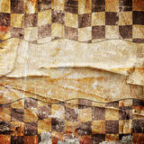 Grungy chessboard background with stains Royalty Free Stock Photography
