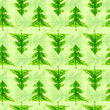 Grungy chrismas tree seamless pattern Royalty Free Stock Photography
