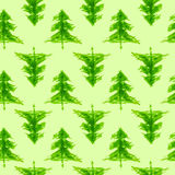 Grungy chrismas tree seamless pattern Stock Photo