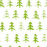 Grungy chrismas tree seamless pattern Royalty Free Stock Image