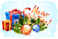 Grungy Christmas Card Royalty Free Stock Images