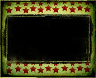 Grungy christmas frame Stock Image