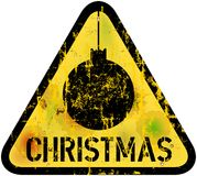 Grungy christmas sign, Royalty Free Stock Images