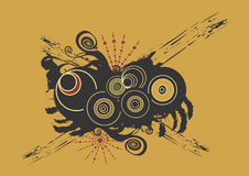 Grungy circles Stock Photo
