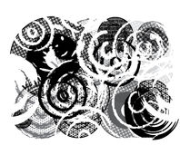 Grungy Cirkels stock illustratie