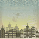 Grungy city in vector Stock Photography