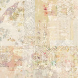 Grungy collage of shabby chic vintage wallpapers Royalty Free Stock Photos