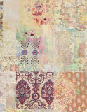 Grungy collage of shabby chic vintage wallpapers. Grungy and distressed collage of shabby chic whimsical vintage wallpapers Royalty Free Stock Photography