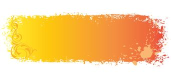 Grungy colored banner with blots Royalty Free Stock Image