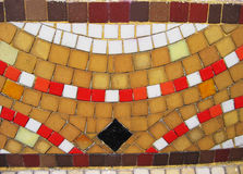 Grungy colored mosaic. Yellow, red and brown squares Royalty Free Stock Images