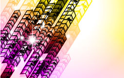 Grungy Colorful Arrow Rainbow Background Stock Image