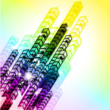 Grungy Colorful Arrow Rainbow Background Royalty Free Stock Image