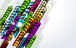 Grungy Colorful Arrow Rainbow Background Royalty Free Stock Photography