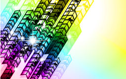 Grungy Colorful Arrow Rainbow Background Stock Photos