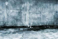 Grungy concrete background. Grungy concrete back lane background Stock Photography