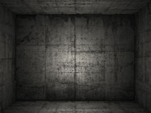 Grungy concrete room 2 Royalty Free Stock Photography