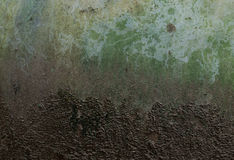 Grungy concrete wall. And soil ground Stock Photo