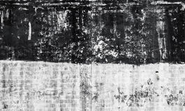 Grungy concrete wall with black paint area Stock Photos