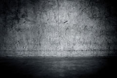 Grungy concrete wall and floor Stock Image
